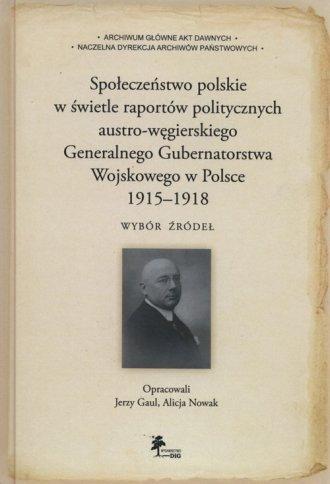 Społeczeństwo polskie w świetle - okładka książki