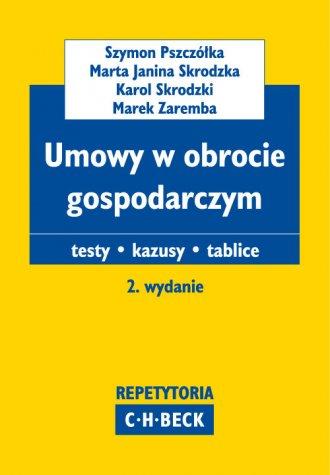 Umowy w obrocie gospodarczym. Teksty. - okładka książki
