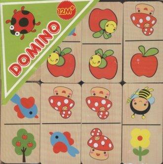 Domino drewniane - zdjęcie zabawki, gry