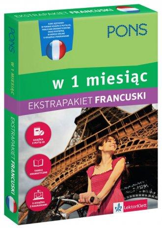 Francuski w 1 miesiąc z tablicami - okładka podręcznika