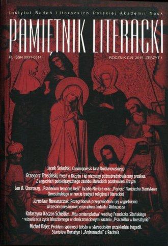 Pamiętnik Literacki 1/2015 - okładka książki