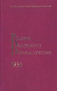 Polskie Dokumenty Dyplomatyczne 1934 - okładka książki