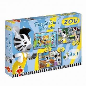 Zou (puzzle 3 w 1) - zdjęcie zabawki, gry