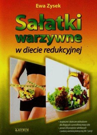 Sałatki warzywne w diecie redukcyjnej - okładka książki