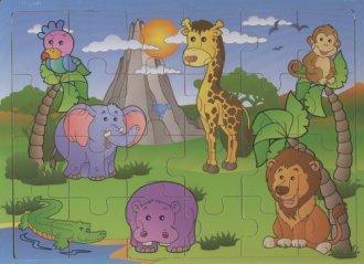 Afryka. Układanka drewniana - zdjęcie zabawki, gry