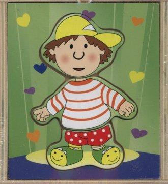 Chłopiec. Układanka drewniana - zdjęcie zabawki, gry