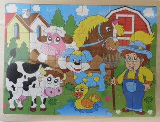 Farma. Układanka drewniana - zdjęcie zabawki, gry