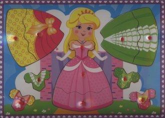 Księżniczka. Układanka drewniana - zdjęcie zabawki, gry