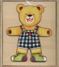 Miś. Układanka drewniana - zdjęcie zabawki, gry