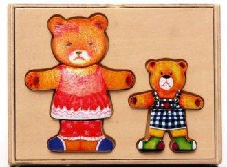 Misie. Układanka drewniana w pudełku - zdjęcie zabawki, gry