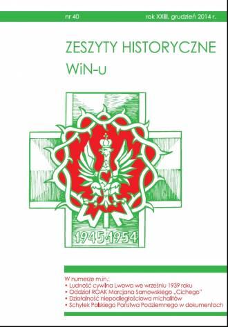 Zeszyty Historyczne WiN-u nr 40 - okładka książki