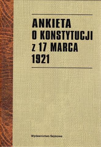 Ankieta o Konstytucji z 17 marca - okładka książki