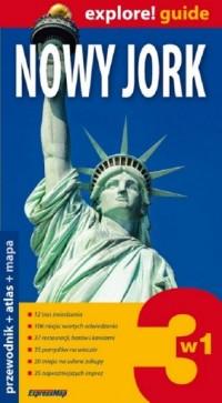 Nowy Jork 3 w 1. Przewodnik + atlas - okładka książki