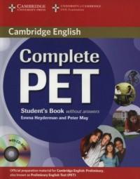 Complete PET. Students Book (+ - okładka podręcznika