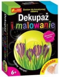 Dekupaż i malowanie. Wiosenne kwiaty - zdjęcie zabawki, gry
