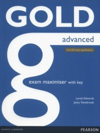 Gold Advanced. Exam Maximiser with key - okładka podręcznika