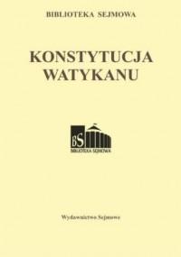 Konstytucja Watykanu. Biblioteka - okładka książki