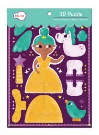 Księżniczka z jednorożcem (puzzle 3D) - zdjęcie zabawki, gry