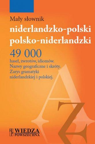 Mały słownik niderlandzko-polski, - okładka podręcznika