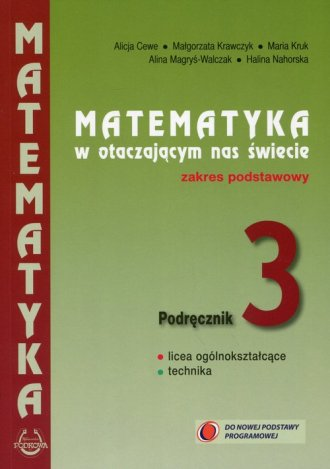 Matematyka w otaczającym nas świecie. - okładka podręcznika