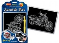 Motocykl. Scratch Art. Srebrna - zdjęcie zabawki, gry
