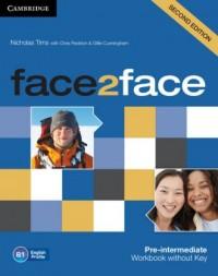 face2face Pre-intermediate Workbook - okładka podręcznika