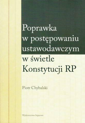Poprawka w postępowaniu ustawodawczym - okładka książki