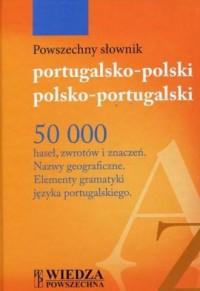 Powszechny słownik portugalsko-polski, polsko-portugalski - okładka książki