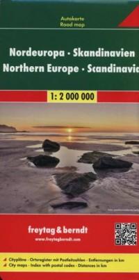 Skandynawia, Europa Północna mapa - okładka książki