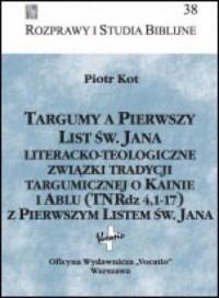 Targumy a Pierwszy List św. Jana. - okładka książki