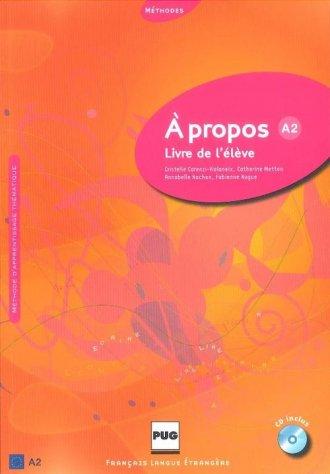 A propos A2. Podręcznik (+ CD) - okładka podręcznika