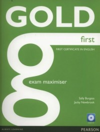 Gold First Exam Maximiser + CD - okładka podręcznika