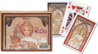 Karty do gry Piatnik 2 talie, Mucha - zdjęcie zabawki, gry