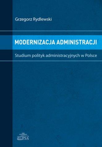 Modernizacja administracji. Studium - okładka książki