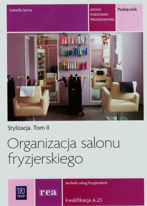 Organizacja salonu fryzjerskiego. - okładka podręcznika