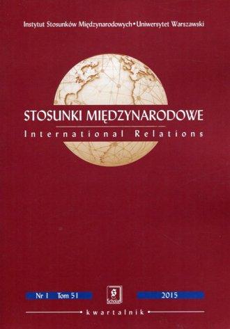 Stosunki MiędzynarodoweTom 51 1/2015 - okładka książki
