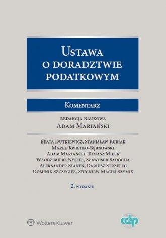 Ustawa o doradztwie podatkowym. - okładka książki