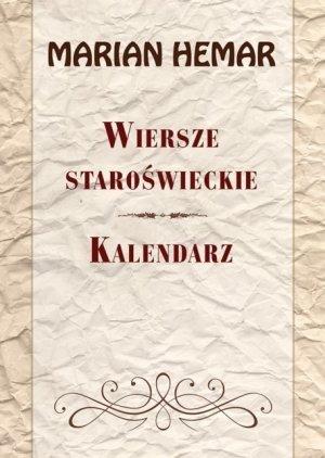 Wiersze staroświeckie. Kalendarz - okładka książki