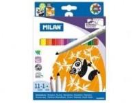 Flamastry wymazywalne 11 kolorów +1 - zdjęcie produktu