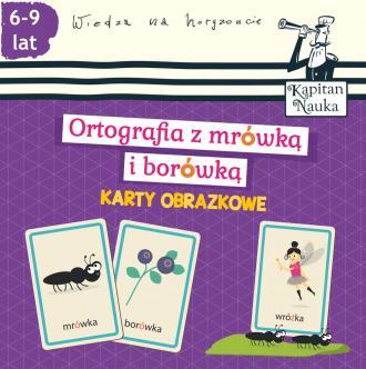 Karty obrazkowe. Ortografia z mrówką - okładka książki