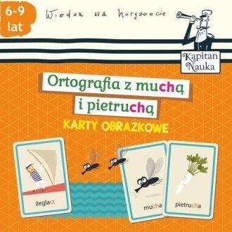 Karty obrazkowe. Ortografia z muchą - okładka książki