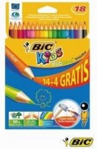 Kredki ołówkowe Kids Evolution (14 + 4 szt.) - zdjęcie produktu