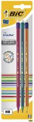 Ołówek Evolution z gumką (3 szt.) - zdjęcie produktu