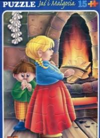 Jaś i Malgosia (puzzle maxi 15-elem.) - zdjęcie zabawki, gry