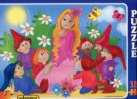 Królewna Śnieżka i siedmiu krasnoludków (puzzle maxi 15-elem.) - zdjęcie zabawki, gry
