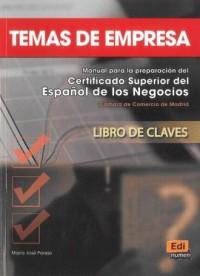 Temas de Empresa. Klucz - okładka podręcznika