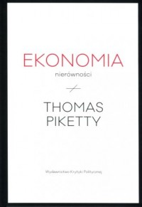 Ekonomia nierówności - okładka książki