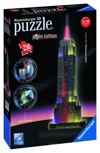 Empire State Building nocą (puzzle - zdjęcie zabawki, gry