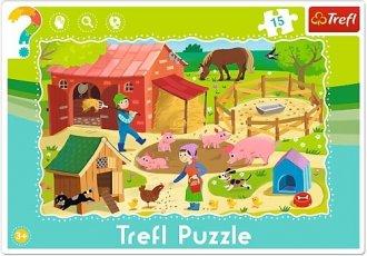 Farma (puzzle ramkowe 15-elem.) - zdjęcie zabawki, gry