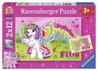 Filly i przyjaciółka (puzzle 2 x 12-elem.) - zdjęcie zabawki, gry